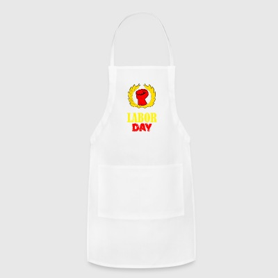 We Are Celebrating Labor Day Symbol - Adjustable Apron