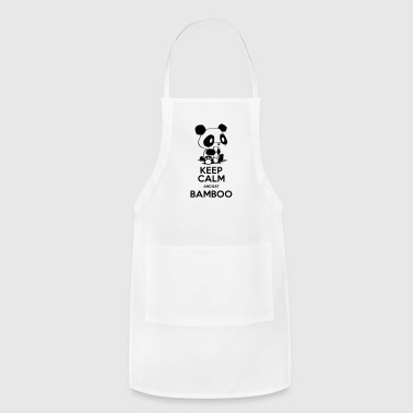 Keep Calm and eat Bamboo - Adjustable Apron