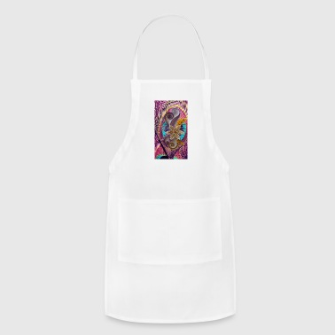 peacock feather and flower - Adjustable Apron