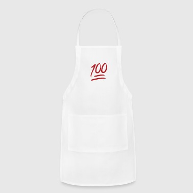 100 Emoji large - Adjustable Apron