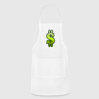green slot machine dollar sign vector clipart - Adjustable Apron