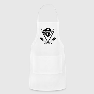 Ice hockey sticks crossbred and ice skates puck - Adjustable Apron