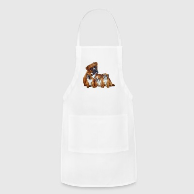 boxer and puppies - Adjustable Apron