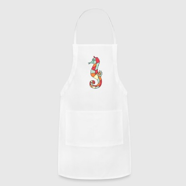 seahorse seepferd seepferdchen tiere animal - Adjustable Apron