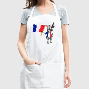 A French Zebra - Adjustable Apron