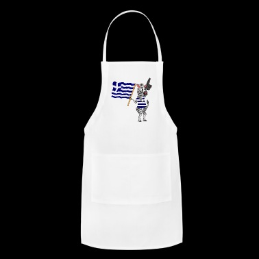 A Greek Zebra - Adjustable Apron