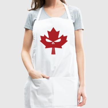 Canadian Maple Skull Red - Adjustable Apron