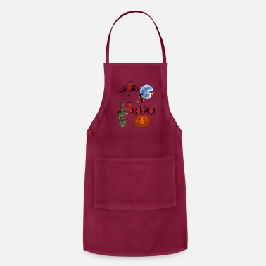 Occasion Happy Halloween and celebrate the occasion - Adjustable Apron