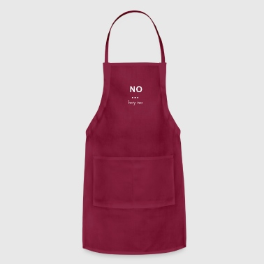 no hoy no - Adjustable Apron