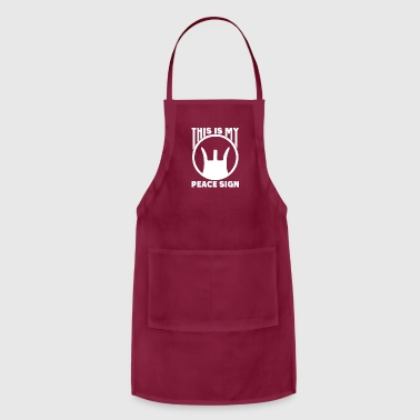 Signora This Is My Peace Sign - Adjustable Apron