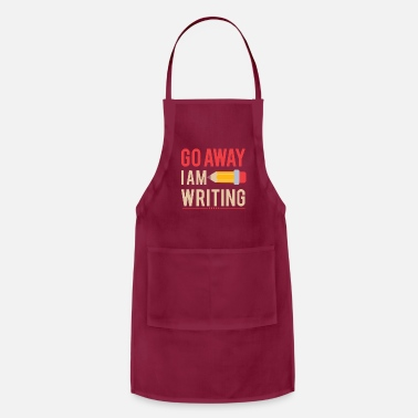 Funny Go Away For Writing gift - Apron
