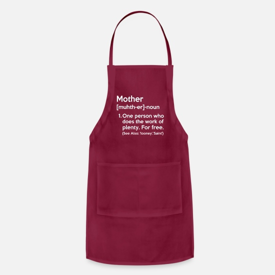 Mummy Aprons - MOTHER NOUN - Apron burgundy