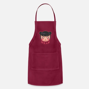 Wooden Doll Kokeshi Japanese Traditional Doll - Apron