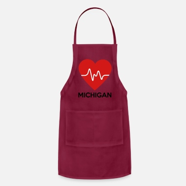 Michigan Heart Michigan - Adjustable Apron