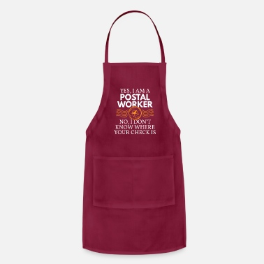 Worker Postal Worker Post Office Mail Funny Cool Gift - Apron