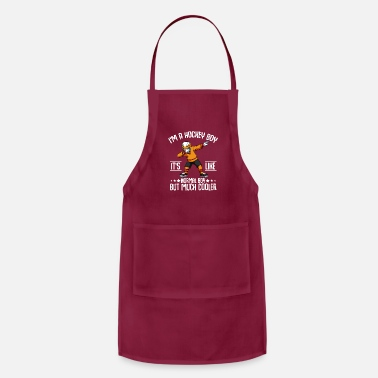 Turn Funny Dabbing Hockey Boy Player Coach Team Sport - Apron