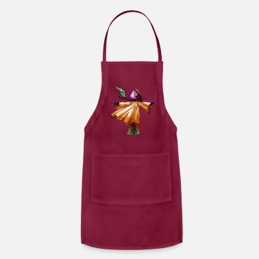 Wood Wind Floating Scarecrow - Adjustable Apron
