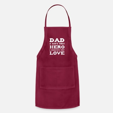 Cute Daddy Son Daughter Shirt New Dad Fathers Day Gift - Apron