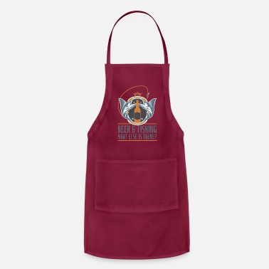 Two Beer And Fishing Swordfish Fisherman - Apron