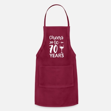 70 Years Cheers To 70 Years - Apron