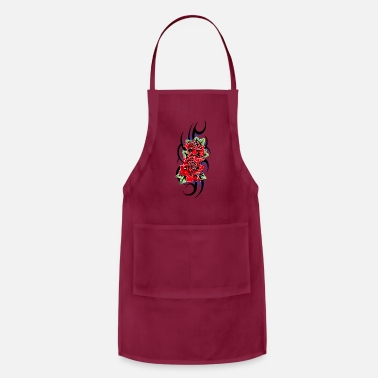 Fall tribal roses flowers - Apron