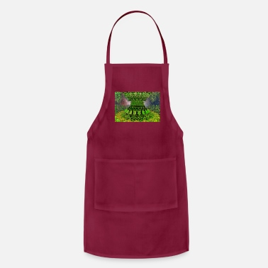 Heavy Sci-Fi Alien Space Reactor - Fractal - Adjustable Apron