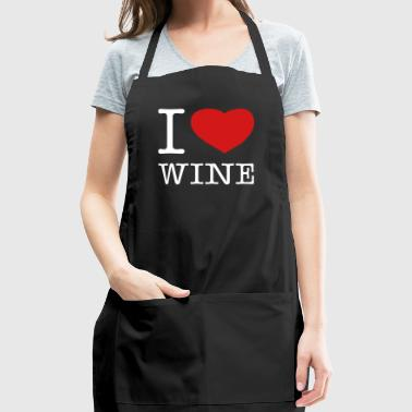 I LOVE WINE - Adjustable Apron