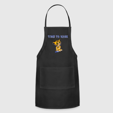 Time to wash Cats love water - catwash gift - Adjustable Apron