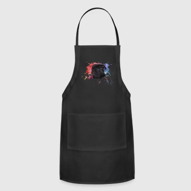 Pug Paint Splatter - Adjustable Apron