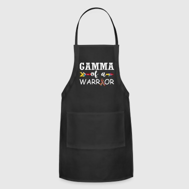 Gamma Of A Warrior Autism Awareness - Adjustable Apron