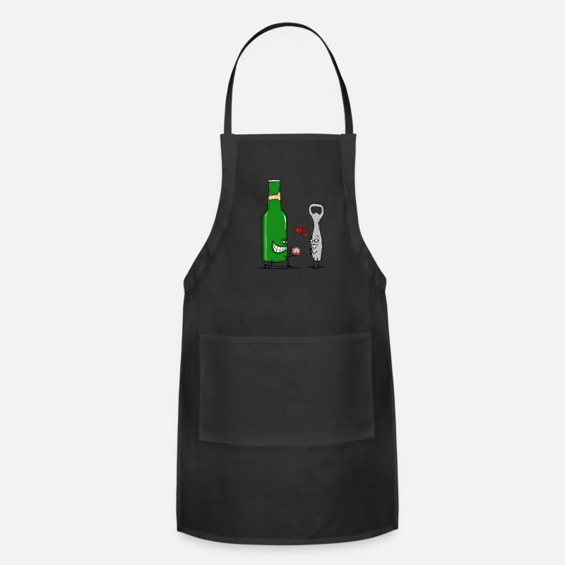 Valentine's Day Aprons - Beer Love - Apron black