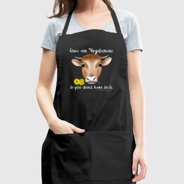 Cows are Vegetarians - Adjustable Apron