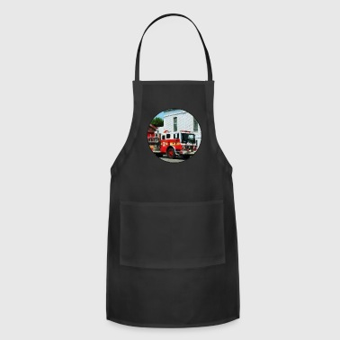Fire Engine in Front of Fire Station - Adjustable Apron
