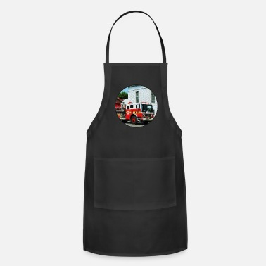 Fire Fire Engine in Front of Fire Station - Adjustable Apron