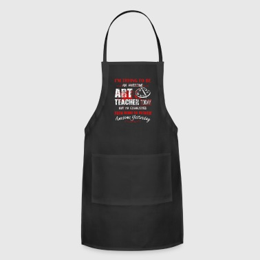 Awesome Art Teacher Shirt - Adjustable Apron