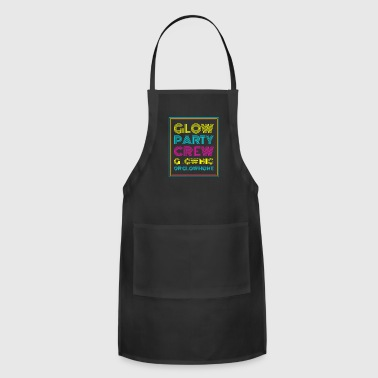 Neon Glow Party Gift Crew Glow Big Or Glow Home Th - Adjustable Apron