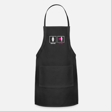 Anniversary Wife Gift Your Wife My Wife Super Hero Wedding - Adjustable Apron