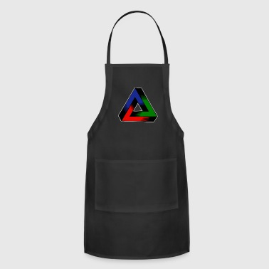 Eye Popping Geomtry Tri Color Design - Adjustable Apron