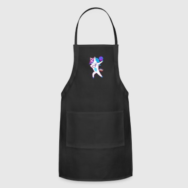 Funny Unicorn Volleyball Funny Dabbing Unicorn - Adjustable Apron