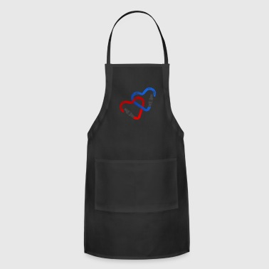 Carabiner Hearts - Climbing Couple Climber Gift - Adjustable Apron