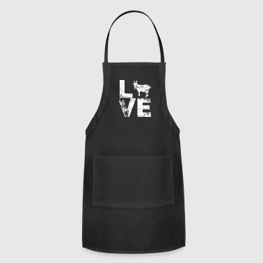 I Love Goats Billy Goat Distressed - Adjustable Apron