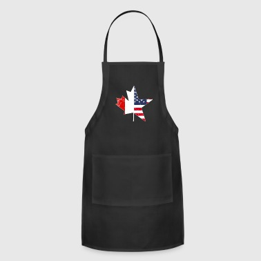USA Canada Flag Maple Leaf Gift Idea Nation - Adjustable Apron