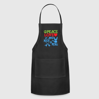 Peace, Love and RocknRoll Great Gift for Friends - Adjustable Apron