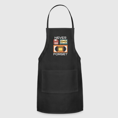 Never Forget Floppy Disk VHS and Casette Tapes - Adjustable Apron