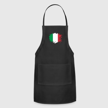 Italy Paint Splatter Flag Italian Pride Design - Adjustable Apron