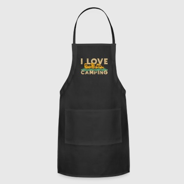 I Love Camping camper tent gift quote love - Adjustable Apron