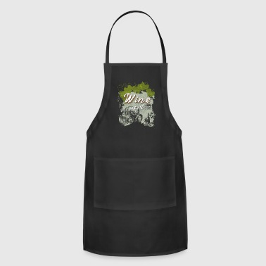 Wine not winery red wine grapevine - Adjustable Apron