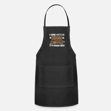 Coffeeshop I Just Want To Drink Coffee And Rescue Cats - Adjustable Apron