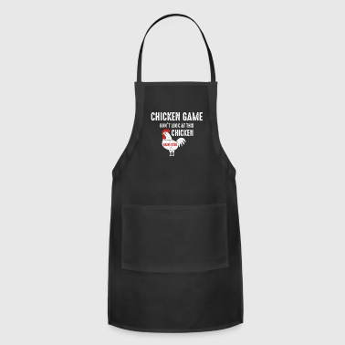 chicken game funny joke design frauen bio t shirt - Adjustable Apron