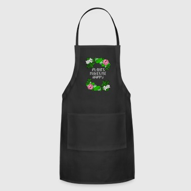 Florist plants happy flowers leaves gift idea - Adjustable Apron